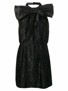 Miu Miu backless wrinkled mini dress - Black