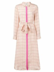 Essentiel Antwerp check maxi shirt dress - Neutrals