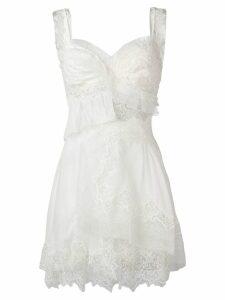 Ermanno Scervino Georgette mini dress - White