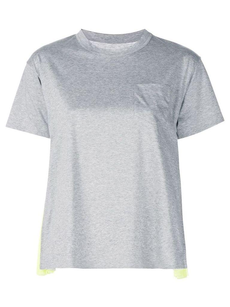 Sacai contrast T-shirt - Grey