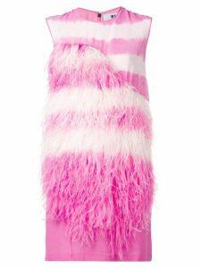 MSGM feathers shift dress - Pink