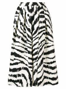 MSGM zebra print midi skirt - Black