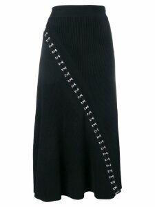 Alexander McQueen hook and eye skirt - Black