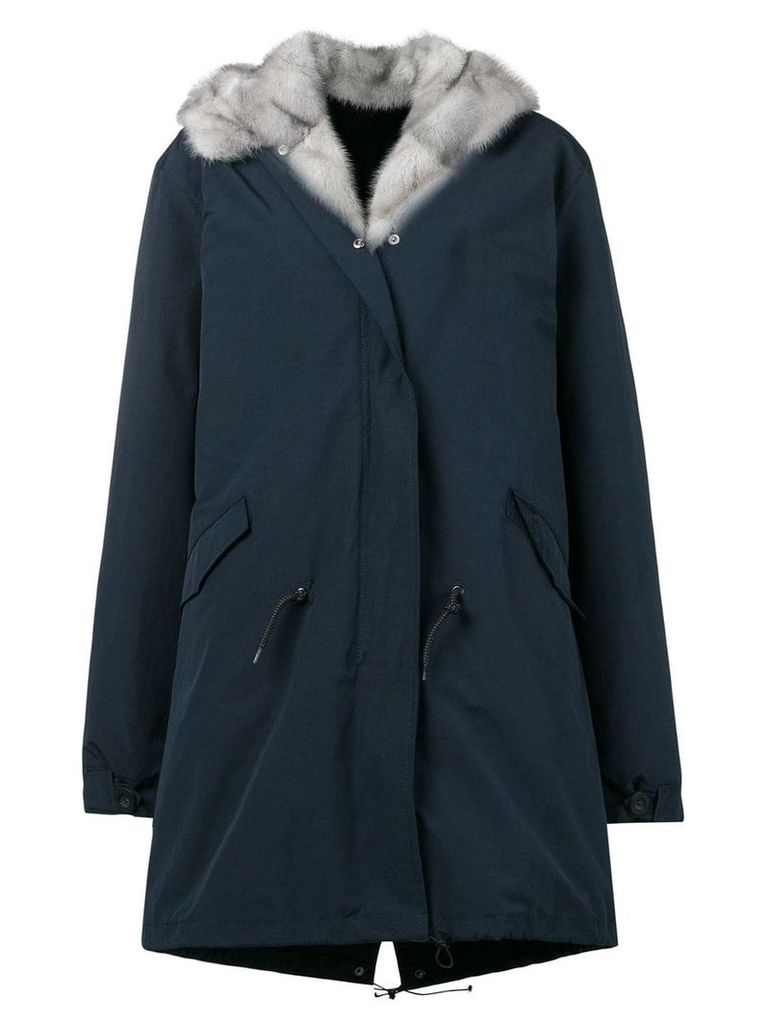Liska fur lined parka - Blue