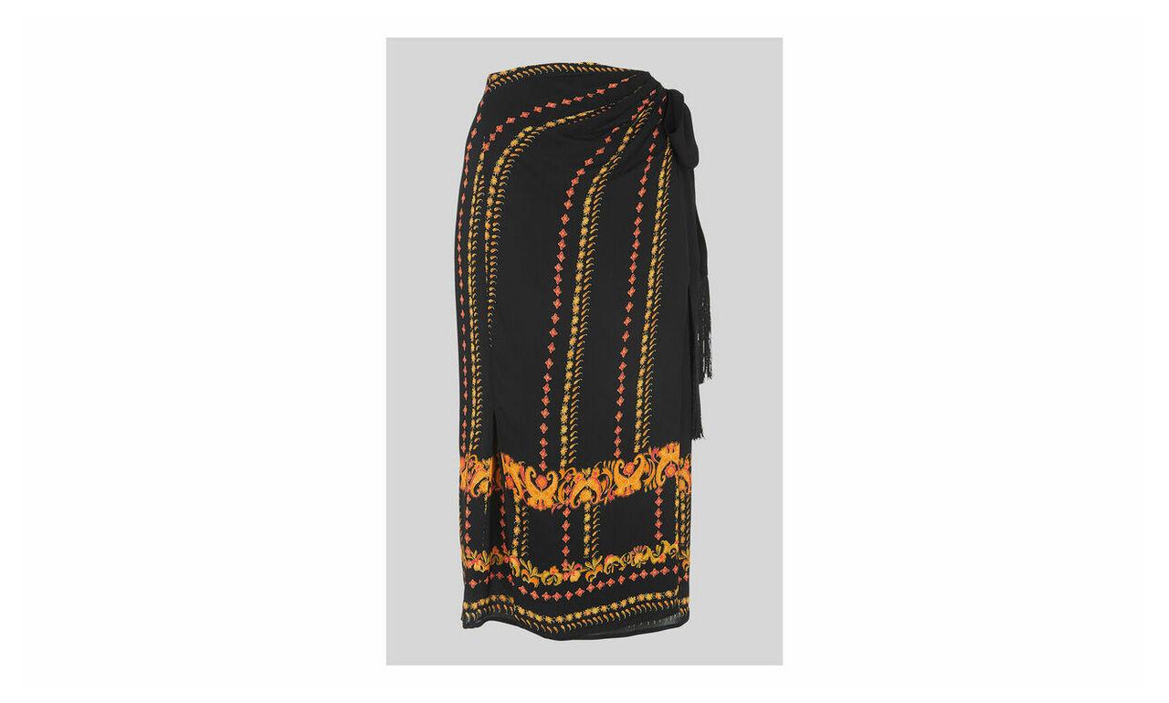 Paisley Scarf Sarong Skirt