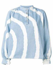 Ganni Acadia tie-dye shirt - Blue