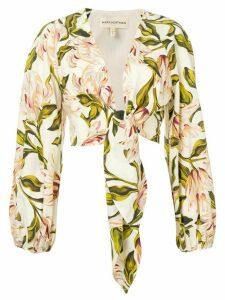 Mara Hoffman floral print shirt - Neutrals