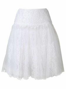 Ermanno Scervino lace A-line skirt - White
