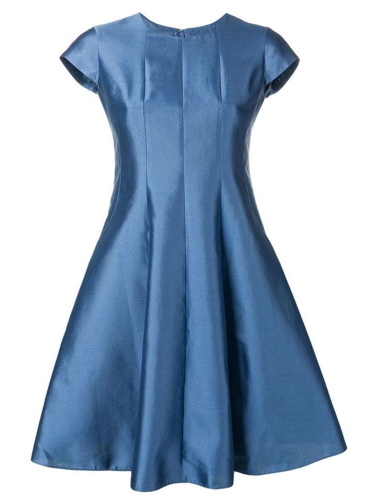 Emporio Armani metallic flared dress - Blue