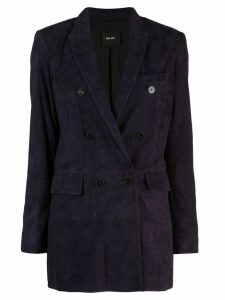 Lth Jkt Ivy blazer - Purple