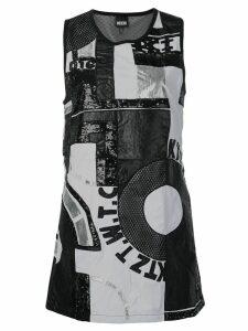 KTZ patchwork mini dress - Black