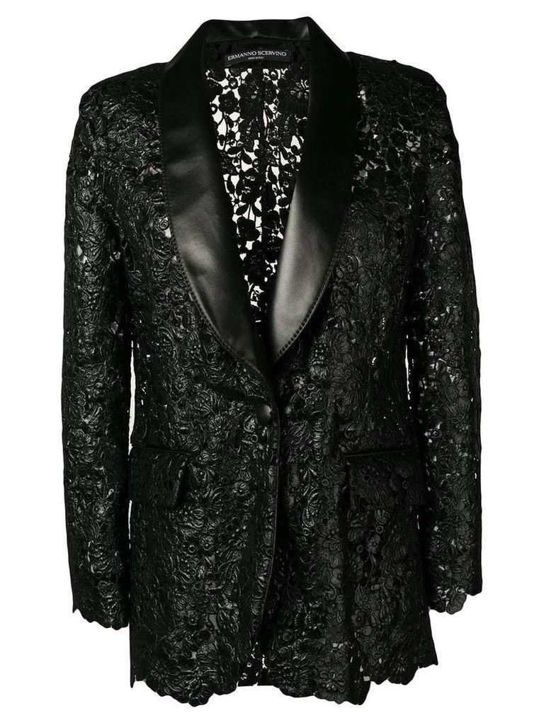 Ermanno Scervino textured lace blazer - Black