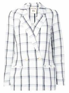 Semicouture check blazer - White
