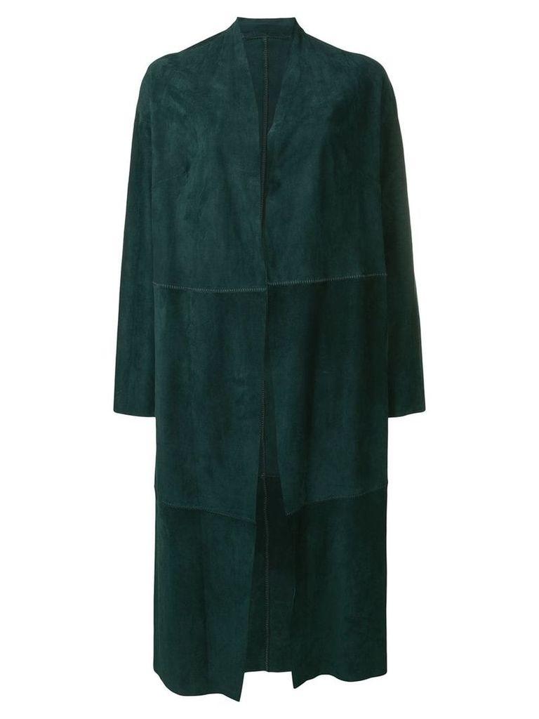 Salvatore Santoro oversized midi coat - Green