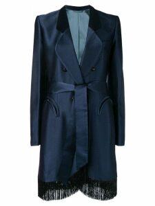 Blazé Milano fringed edge coat - Blue