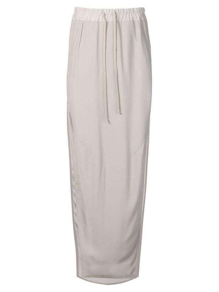 Rick Owens long loose skirt - Grey