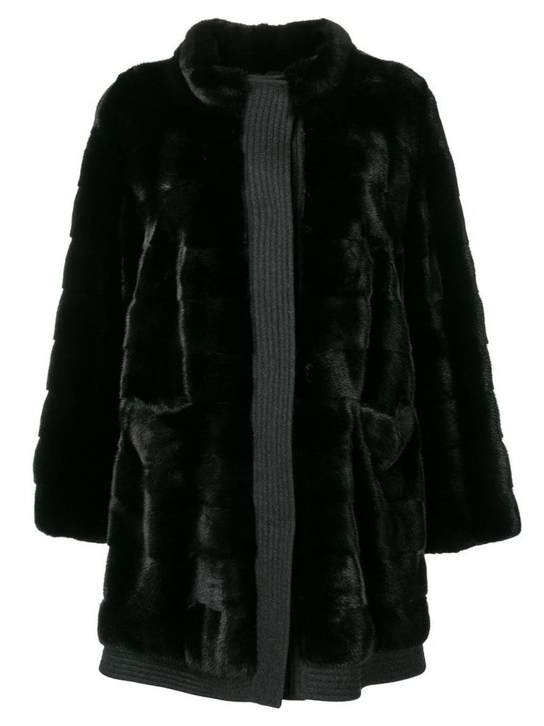 Liska Ari fur coat - Black