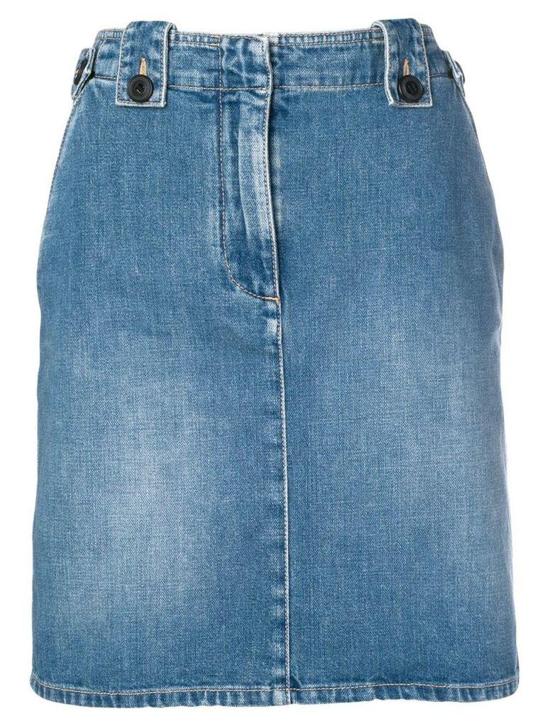 Givenchy knee-length denim skirt - Blue