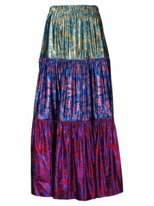 Gucci metallic brocade skirt - Purple