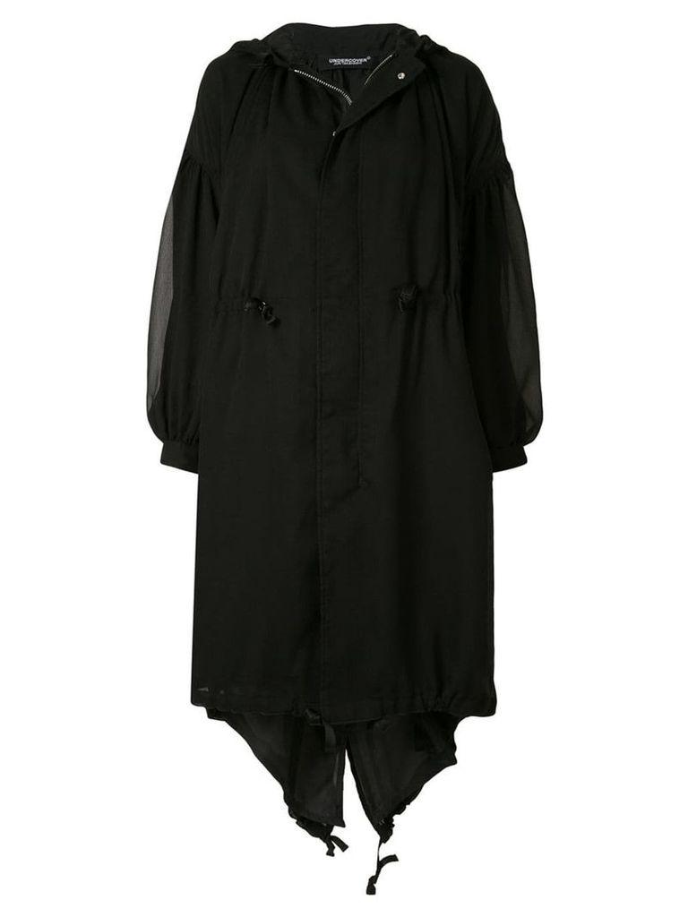 Undercover oversized coat - Black