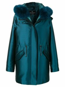 Liska hooded classic coat - Blue