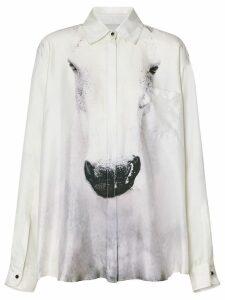 Burberry Unicorn Print Silk Shirt - Grey