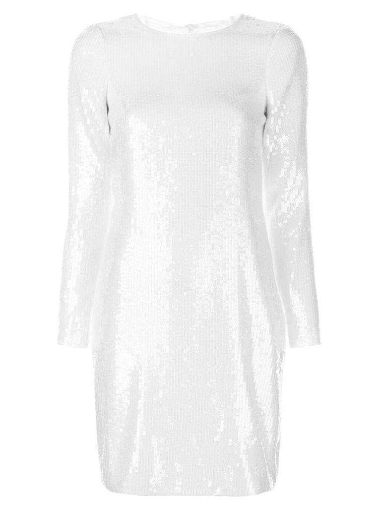 Amsale sequin embellished dress - White