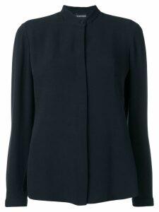 Emporio Armani guru-collar shirt - Blue