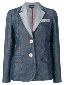 Emporio Armani contrast lapels blazer - Blue