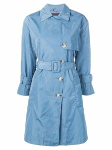 Emporio Armani double-breasted trench coat - Blue