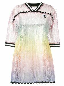 Marco De Vincenzo gradient effect lace dress - Pink
