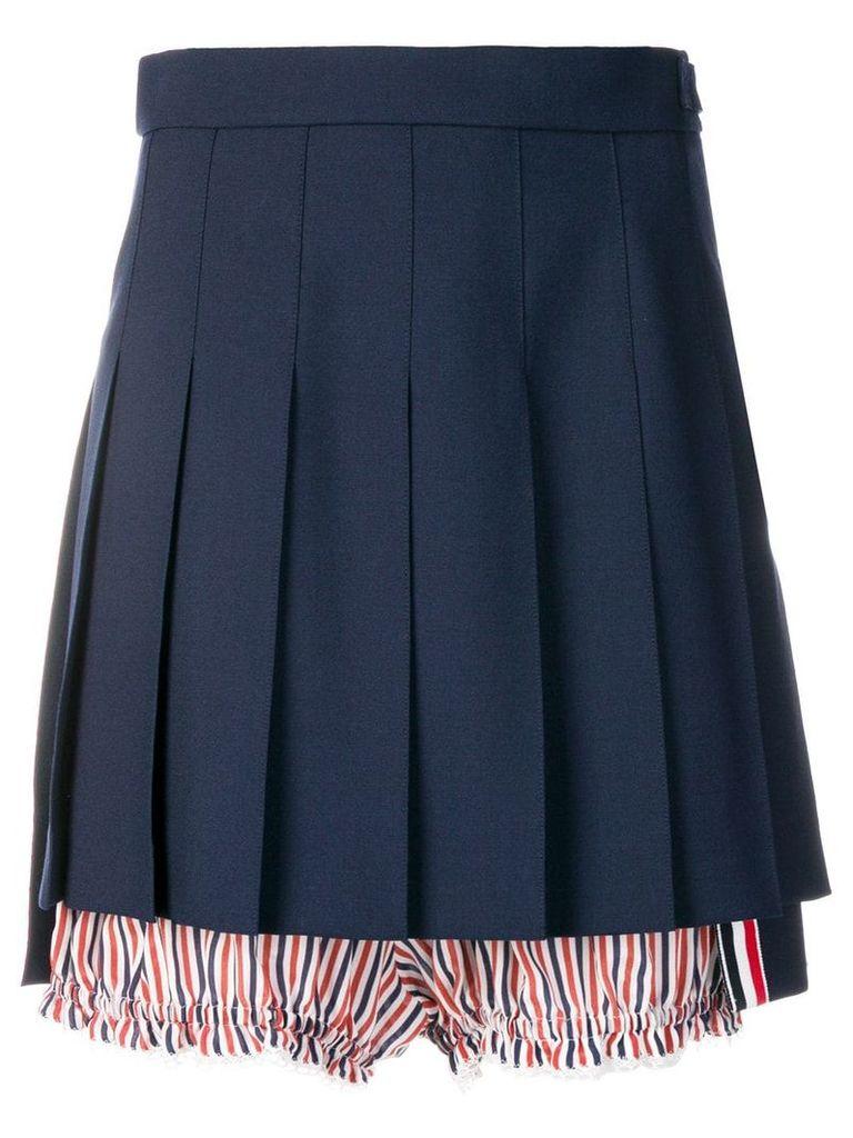 Thom Browne Lace Trim Bloomer Miniskirt - Blue