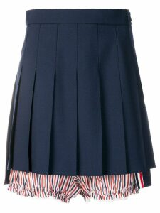 Thom Browne Lace Trim Bloomer Miniskirt - Blue