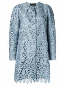 Emporio Armani macramé duster coat - Blue