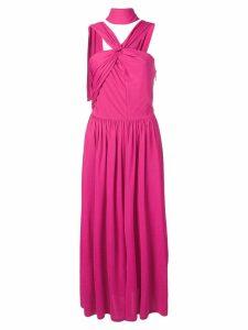 MSGM long asymmetric dress - Pink