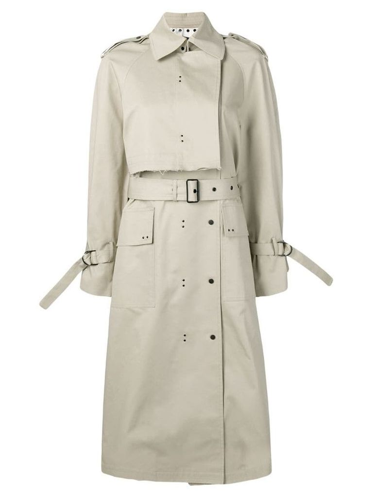 Eudon Choi hooded trench coat - Neutrals