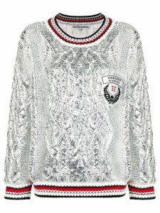 Ermanno Scervino oversized metallic jumper - Silver
