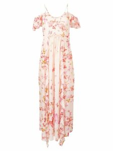 Twin-Set butterfly printed maxi dress - Pink