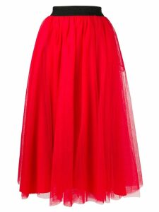 MSGM full tulle skirt - Red