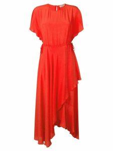 Twin-Set ruffled midi dress - Red