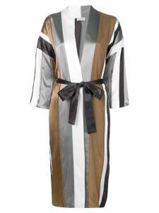 Brunello Cucinelli striped kimono - Grey