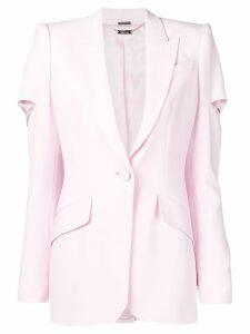Alexander McQueen cut out blazer - 6875 Pink