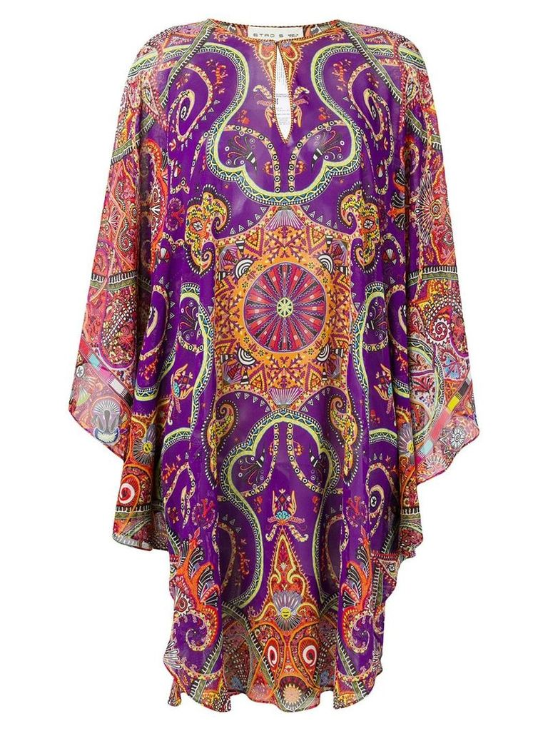 Etro printed kaftan dress - Orange