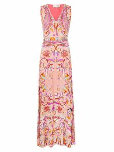 Etro all-over print dress - Pink