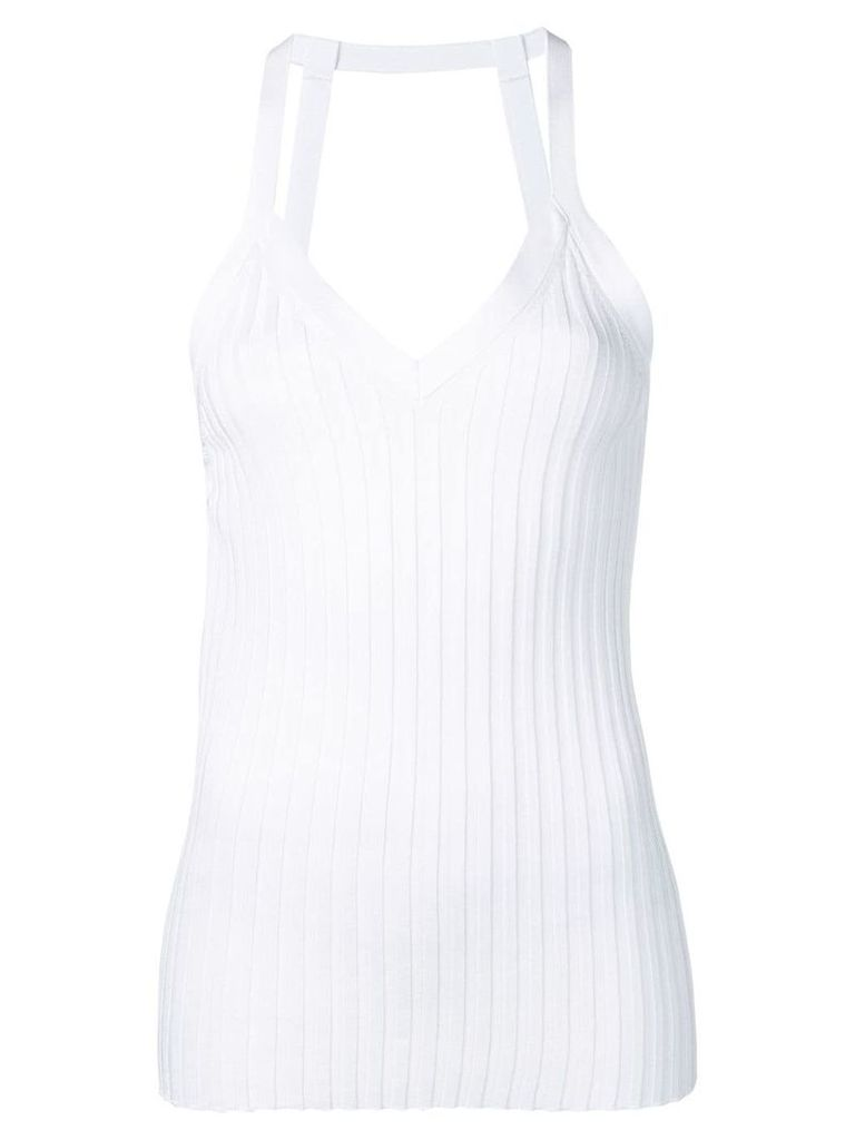 Circus Hotel ribbed fitted tank top - White