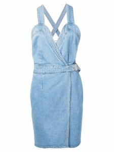 Nanushka belted denim dress - Blue