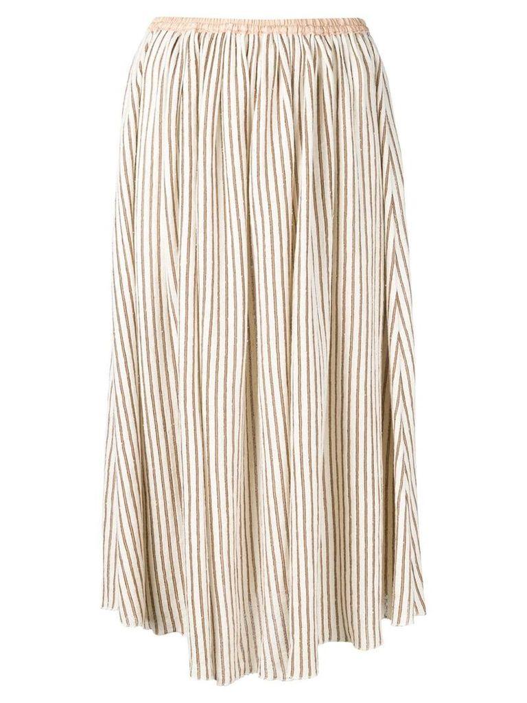 Forte Forte striped skirt - Neutrals