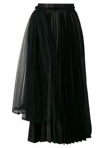 Comme Des Garçons Noir Kei Ninomiya asymmetric pleated skirt - Black