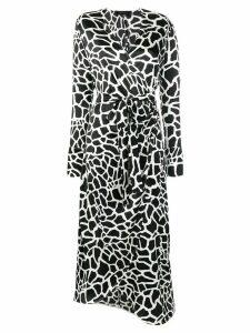 Federica Tosi printed wrap dress - Black