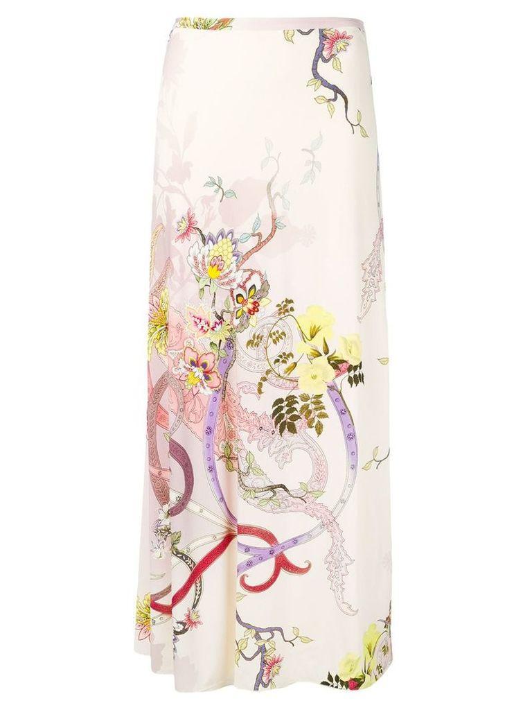 Etro long printed skirt - Pink